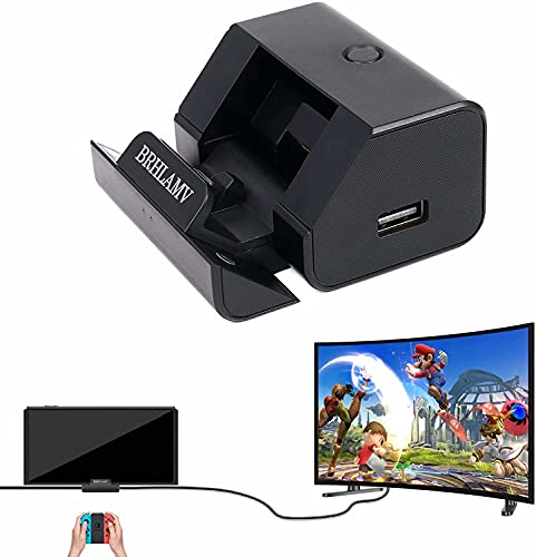 Portable Switch Dock for Nintendo, BRHLAMV Mini Small Cradle Travel Replacement for TV Docking Station on Trip with HDMI, USB 3.0, USB 2.0 x2 and Charging Ports