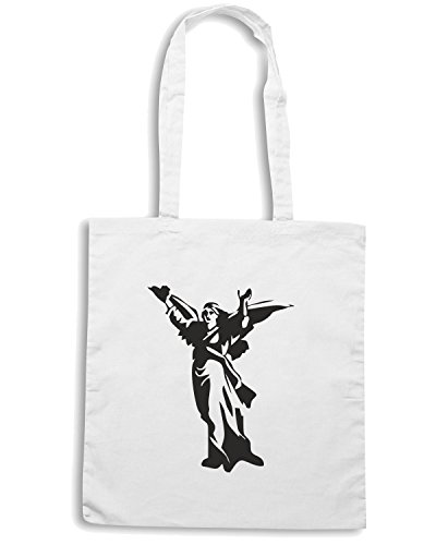 T-Shirtshock - Bolsa para la compra FUN0583 angel die cut vinyl decal sticker 60311 Blanco