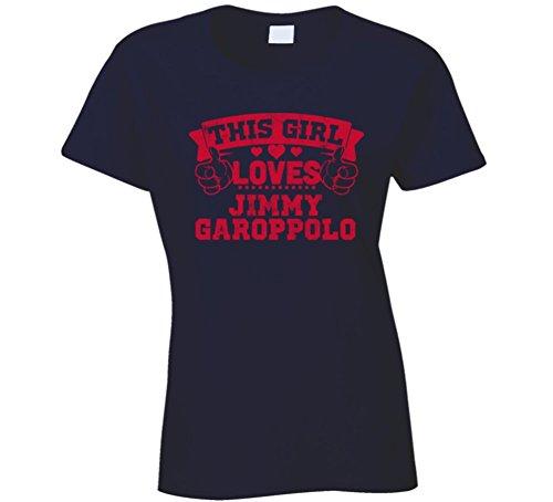 This Girl Loves Jimmy Garoppolo New England Football Sports Athlete T Shirt M Navy