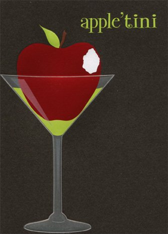 Apple-Tini APress Glitter Birthday Card](Apple Tini)