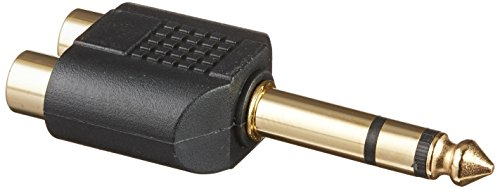 Monoprice 107193 6.35-mm Stereo Plug to 2 RCA Jack Splitter