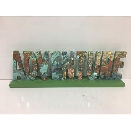 UPC International Summer Adventure Word Tabletop Decor
