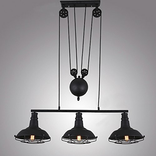 Pool Table Island Light - Industrial Vintage Retro Linear Chandelier - LITFAD 35