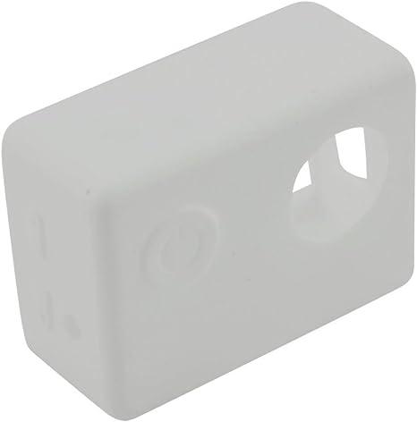 Funda Blanda Cubierta de Silicona Caja Protectora para Cámara Deportiva SJCAM SJ5000 Sjcam SJ4000 Blanco: Amazon.es: Electrónica