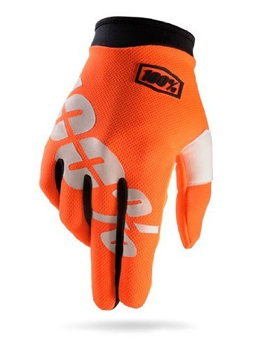 100% ITRACK Adult Leather/Textile Off-Road Motorcycle Gloves - Cal-Trans/Orange / - Podium Apparel