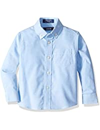 Boys' Long Sleeve Solid Button-Down Oxford Shirt