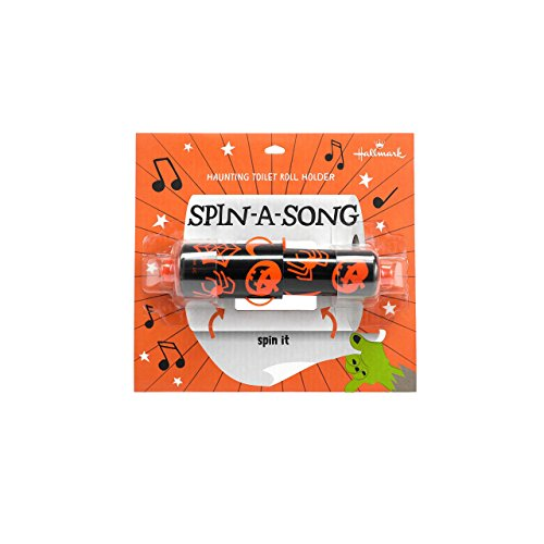 hallmark home Spin A Song Musical Toilet Paper Holder, Halloween