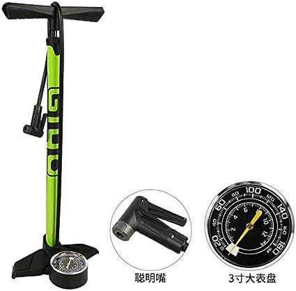 Mini bomba de bicicleta, Bombas de pie, fácil de usar, la bomba de aire de la mano, con manómetro, for válvulas Presta y Schrader 180PSI, Bicicleta de montaña coche eléctrico: Amazon.es: Coche