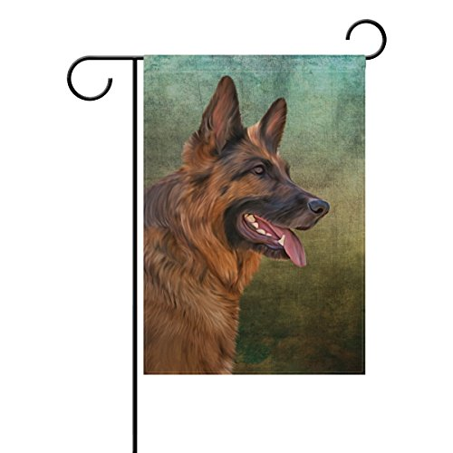 My Daily German Shepherd Dog Vintage Decorative Double Sided House Flag 28 x 40 inch