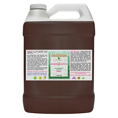 Cocojojo Cold Pressed Organic Jamaican Black Castor Oil, 144 oz