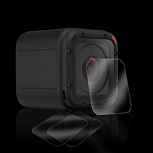 Pack-of-3-Tempered-Glass-Screen-Protector-for-Gopro-Hero-4-Session-Hero-5-Session-Akwox-03mm-9H-Hard-Scratch-resistant-Camera-Lens-Film-for-GoPro-Hero4-SessionHero5-Session-Camera-Accessories