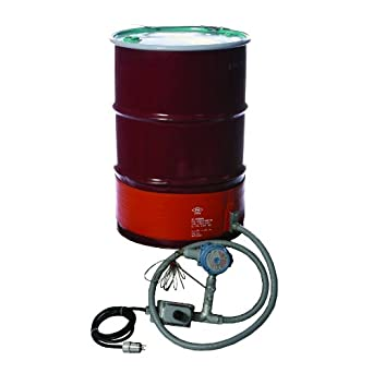 BriskHeat DHCX151300T4A DHCX Hazardous-Area Rated Drum Heater For T4A Rated Environments, Fits 55-Gallon Drums, W x L: 8 x 70-Inch, diameter 22.3-Inch, 120VAC