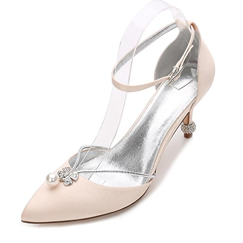 L@YC Women's Shoes Spring Summer Fall Heels Pointed Toe Sequin For Wedding Office & Career Party & Evening/Ivory Champagne 3DimWNhnSl
