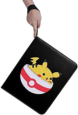 NeatoTek Waterproof Double Sided 40 Pages 9 Pocket Binder Compatible with Pokemon Cards 9 Pocket Portable Storage Case with Removable Sheets Holds Up to 720 Cards-Toys Gifts for Boys Girls