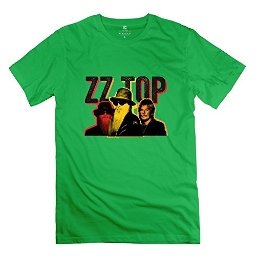 StaBe Men's ZZ Top Band T-Shirt O Neck Novelty M ForestGreen -