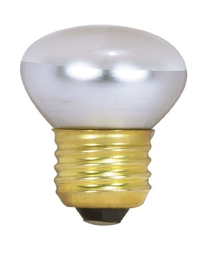 Satco S3601 120V Stubby 25-Watt R14 Light Bulb, Clear ()