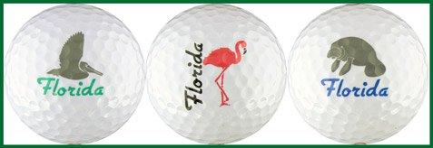 フロリダW / Pelican、フラミンゴ& Manateeゴルフボールギフトセット   B000SMJJH0