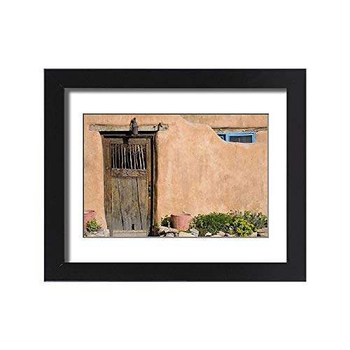 Framed 15x11 Print of NM, New Mexico, Santa Fe, Canyon Road, Legendary for its Many Art Galleries (11161791) from Media Storehouse