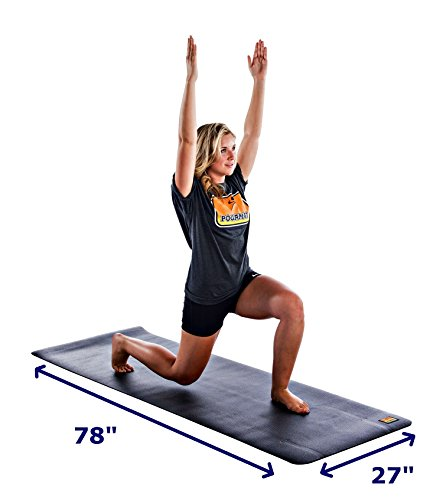 """Pogamat Large Yoga Mats 78"""" X 27"""" X 6.5mm Thick – High De..."""