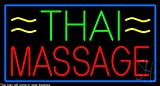 Thai Massage Clear Backing Neon Sign 20'' Tall x 37'' Wide
