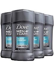 Dove Men+Care Antiperspirant Deodorant 48-Hour Wetness Protection Clean Comfort Non-Irritant Deodorant for Men 2.7 oz, 4 Count (Packaging may vary)