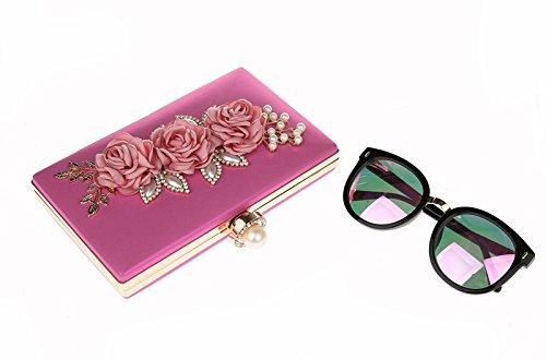 TOOKY - Bolso mochila  de poliuretano para mujer rosa (b)