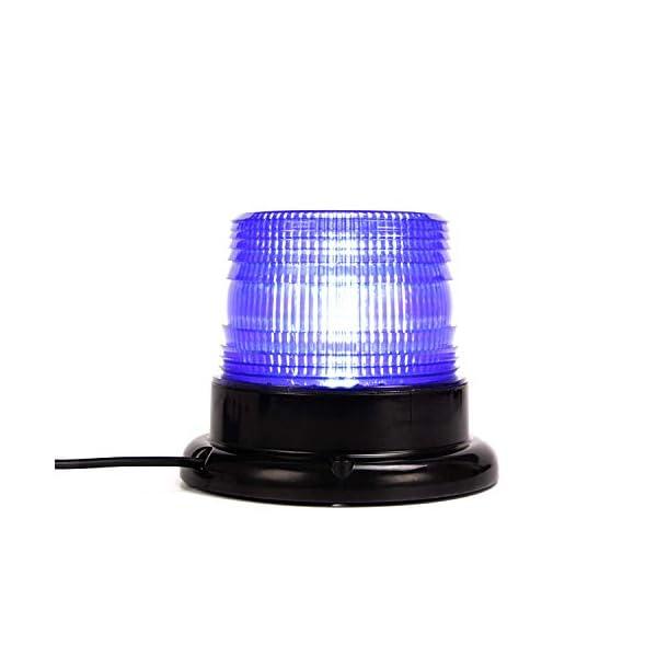 Luz de advertencia 12V LED Baliza Luces magnética Impermeable advertencia de emergencia para vehículo automotor Camión remolque Recargable 7