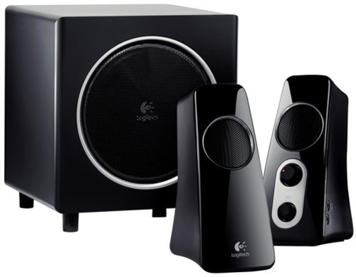 Logitech Wireless Music System - Logitech Speaker System Z523 with Subwoofer