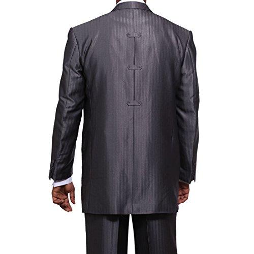 Milano Moda Men's 3 Piece Set Luxurious Wool Feel Suit HL5264 New York Brand by Milano Moda (Image #4)'