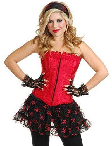 Ick Costume Women's Sexy Pirate Cowgirl Dominatrix Red Lace -