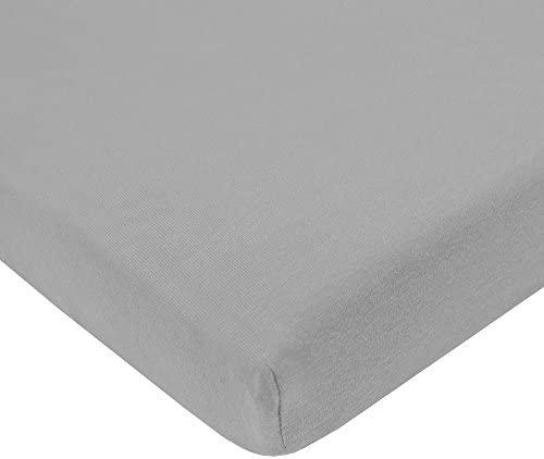 American Baby Company Heavenly Soft Minky Dot Chenille Portable/Mini Crib Bedding Set, Gray, 3 Piece by American Baby Company (English Manual)