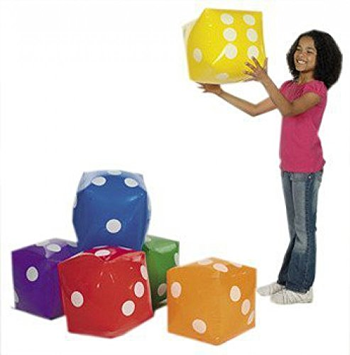 Jumbo Inflatable Dice Decoration - 1 Die Per - Dice Extra Large