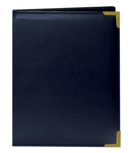 """2.5""""x3.5"""" Wallet Size 24 Photo Oxford Brass Corner Series Photo Album - Navy Blue"""