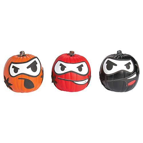 - Fun Express - Ninja Pumpkin Decorating CK-12 for Halloween - Craft Kits - Home Decor Craft Kits - 3 - D Tabletop - Halloween - 12 Pieces