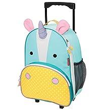 Skip Hop Zoo Kids Rolling Luggage, Eureka Unicorn, Multi, Small, Large, X-Small, 4 oz.