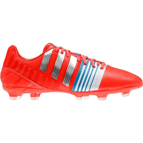 Nitrocharge 2.0 Fg Soccer Cleat, Red/Silver, 6.5 by Adidas for Men's