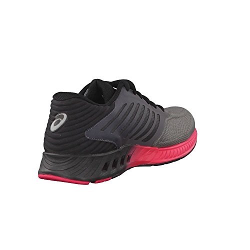 Top Asics Black Red Women's Fuzex Low Sneakers Grey ttqUwFa