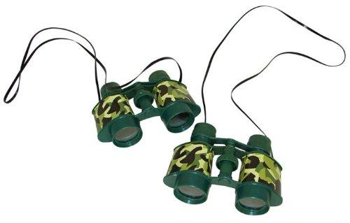 Plastic Camouflage Binoculars 12 count