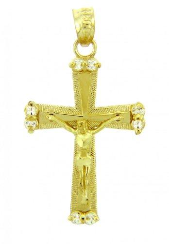 10 ct 471/1000 Or Jaune Crucifix - La Sacree Crucifix Pendentif