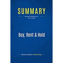 Summary: Buy, Rent & Hold: Review and Analysis of Irwin's Book