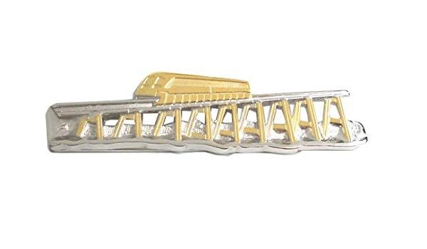 Alfiler de corbata transrapid - tren mlmt bicolour - parte dorado ...