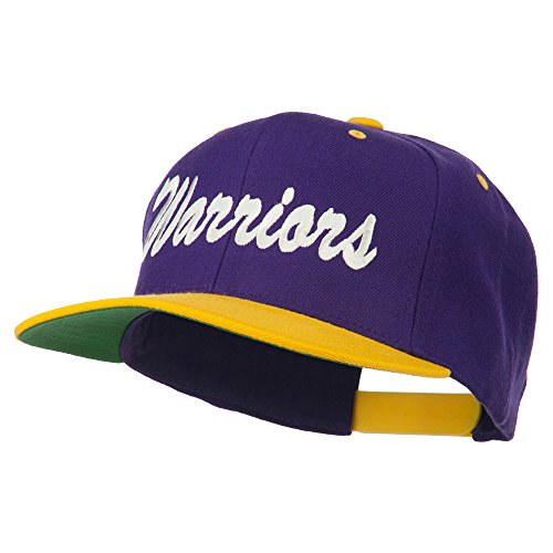 Gold Wool Classic Hat - E4hats Warriors Embroidered Classic Wool Blend Cap - Purple Gold OSFM