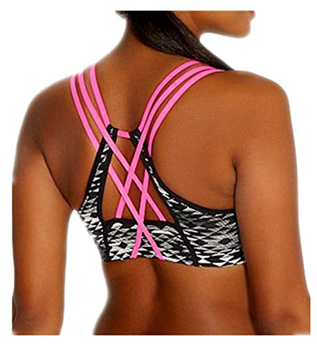 EVALESS Women's Active Strappy Wirefree Yoga Sports Bra