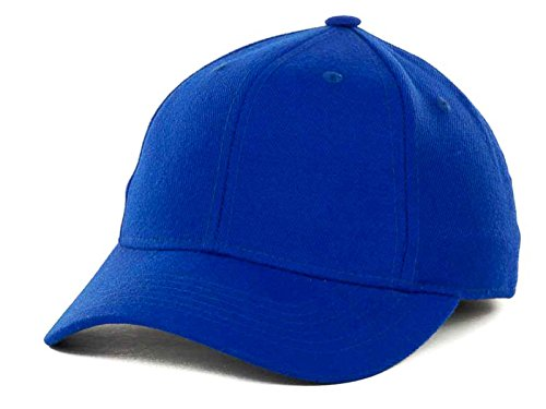 Top Of The World By Lids JV HOME RUN Boy's One-Fit Stretch Fitted Blank Baseball Hat Cap (Youth, Royal Blue)