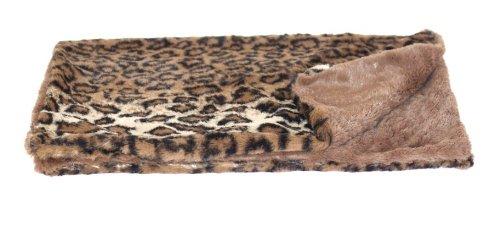 (The Dog Squad Minkie Binkie Pet Blanket, Small, Dark Brown Leopard)