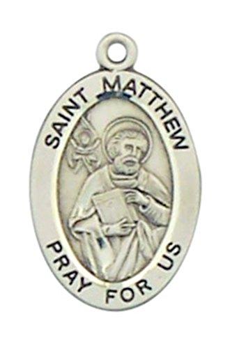 patron-saint-matthew-7-8-inch-oval-sterling-silver-medal-pendant