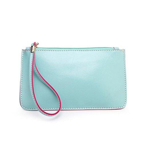 ZARU Frauen Handtaschen -Umschlag, Clutch-Taschen-Taschen-Geldbeutel Blau