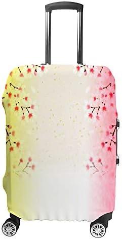 スーツケースカバー 伸縮素材 トランク カバー 洗える 汚れ防止 キズ保護 盗難防止 キャリーカバー おしゃれ 綺麗な花 黄色 ピンク ポリエステル 海外旅行 見つけやすい 着脱簡単 1枚入り