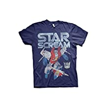 Officially Licensed Transformers Starscream Distressed T-Shirt (Navy)