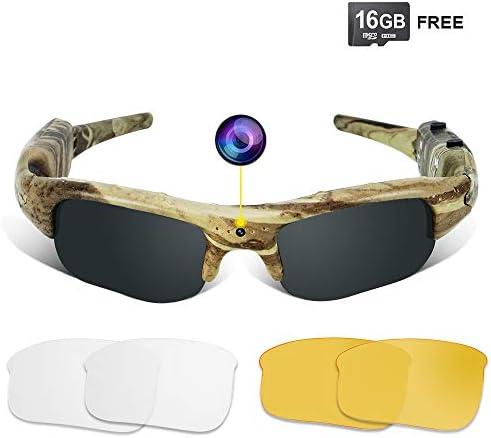 WISEUP 1280x720P Sunglasses Recorder Camcorder